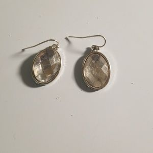 Jewelry - Large stone dangle earrings